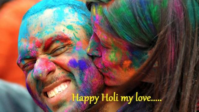 Holi-Romantic-Girl-Kissing-Boy-Wallpaper happy holi my love