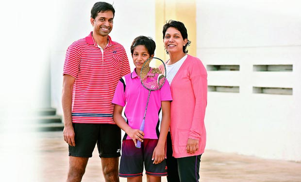 gopichand with family pic
