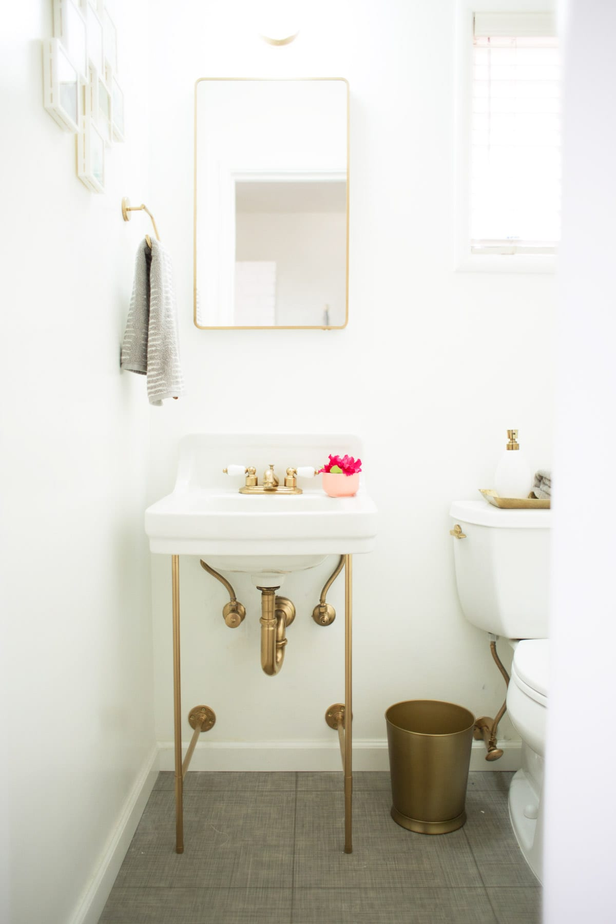 diy gold sink legs lovely indeed