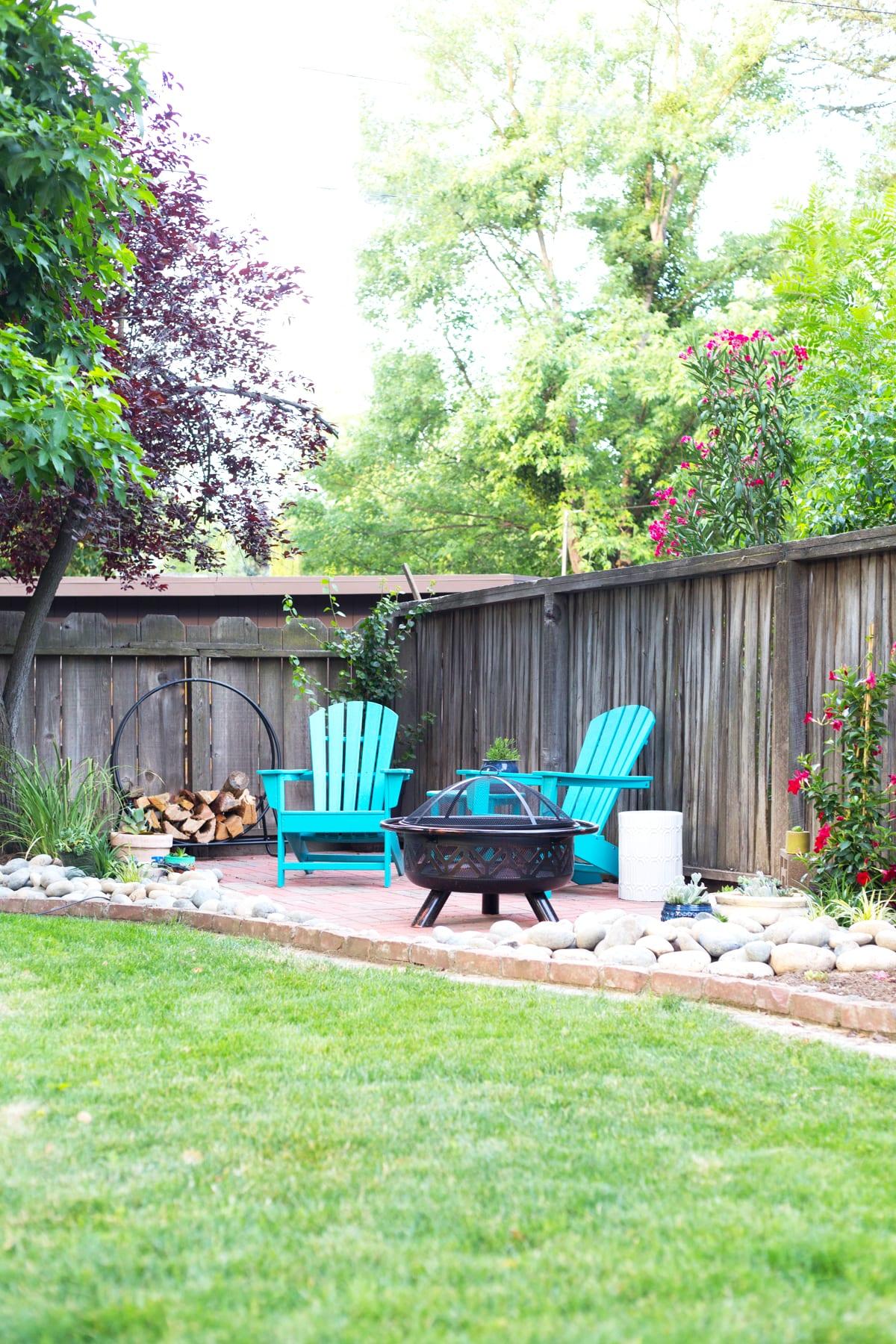 DIY Backyard Patio | Lovely Indeed on Cheap Backyard Patio Ideas id=57900