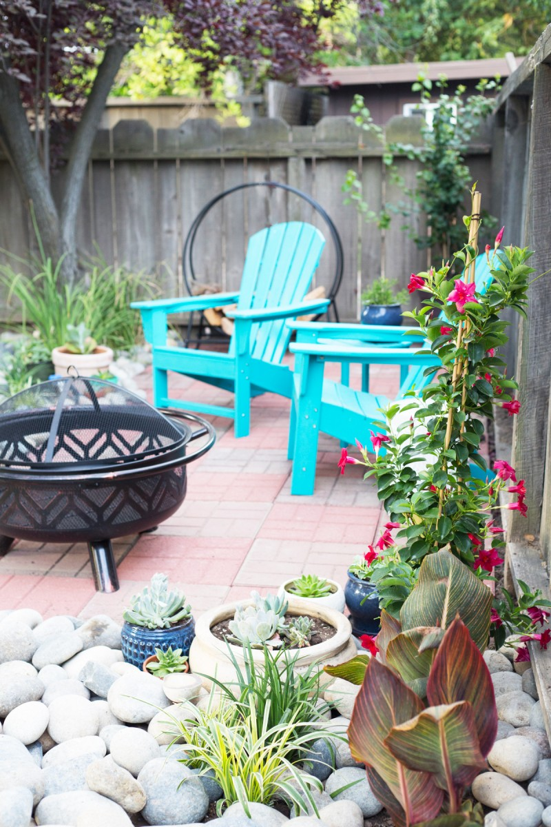 Easy DIY Backyard Patio with Brick Pavers » Lovely Indeed on Build Backyard Patio id=24595