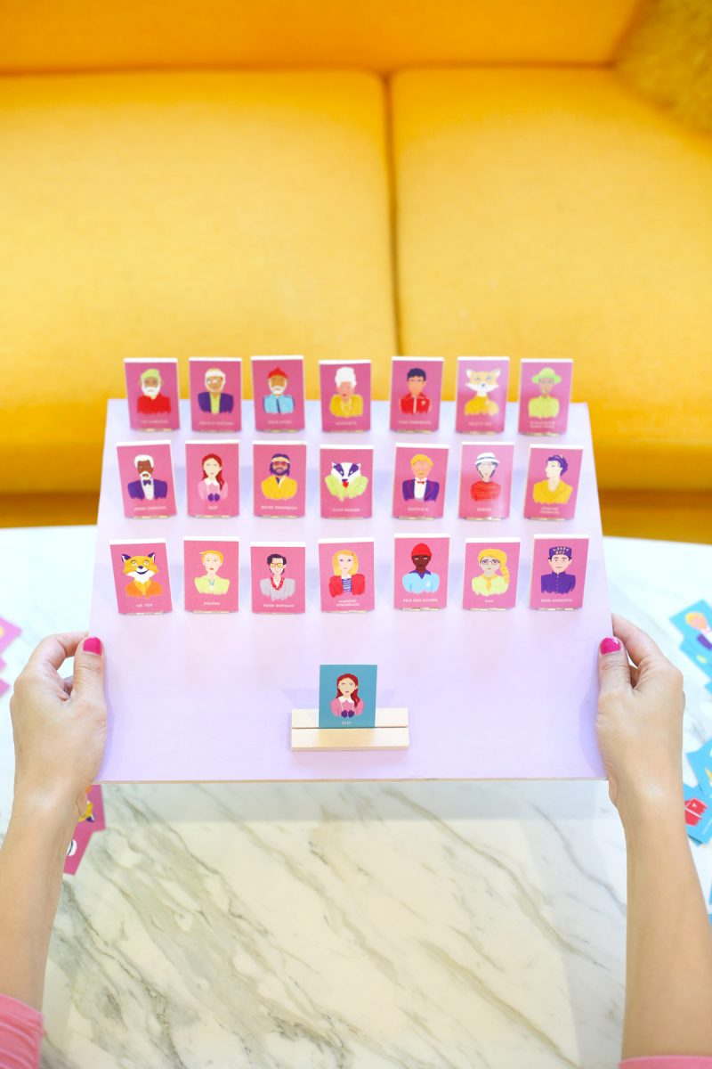 DIY Wes Anderson Guess Who Board Game Lovely Indeed