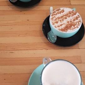 Tea lattes with dear friends