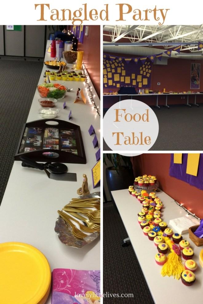 Tangled Food Table