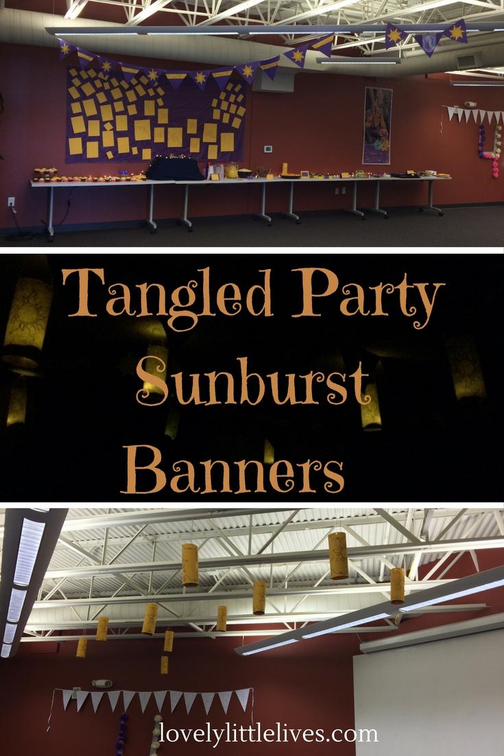 Tangled Party Golden Sunburst Banners