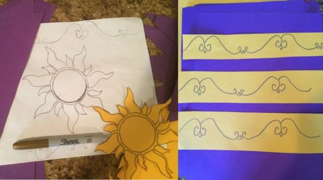 Tangled Sunburst Pattern