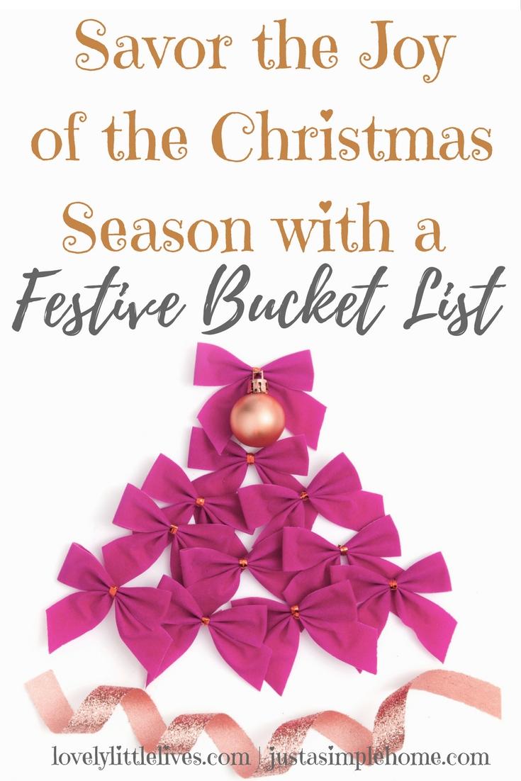 Savor the Joy of the Christmas Season with a Festive Bucket List