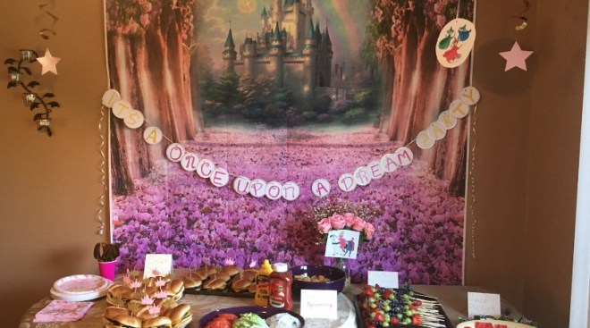 Sleeping Beauty birthday party