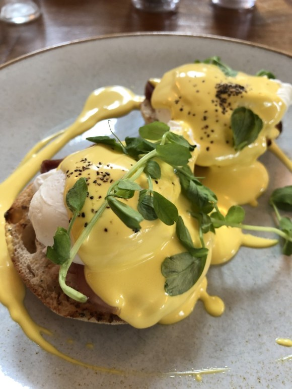 Chesterfield brunch - eggs at Devonshire Arms Middle Handley
