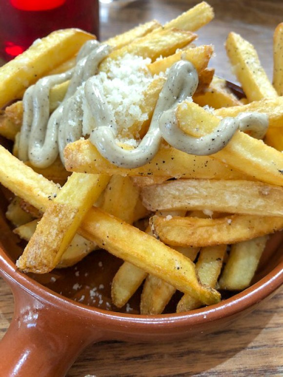 chesterfield takeaways Tickled Trout truffle fries
