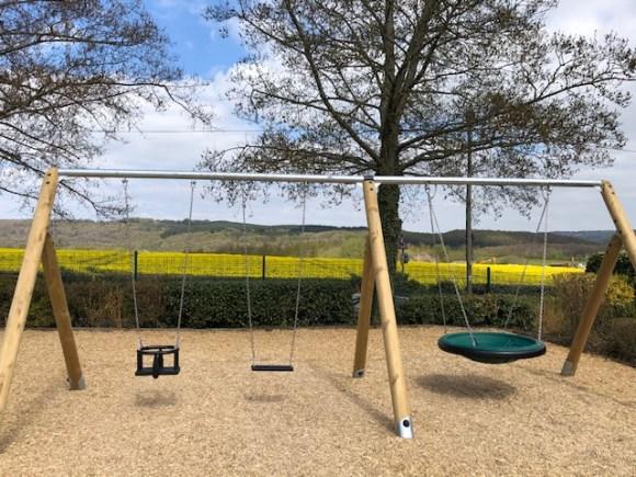 Dunston Hall garden centre play area swings