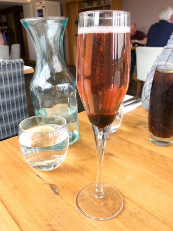 Bluebell South Wingfield pink fizz cocktail