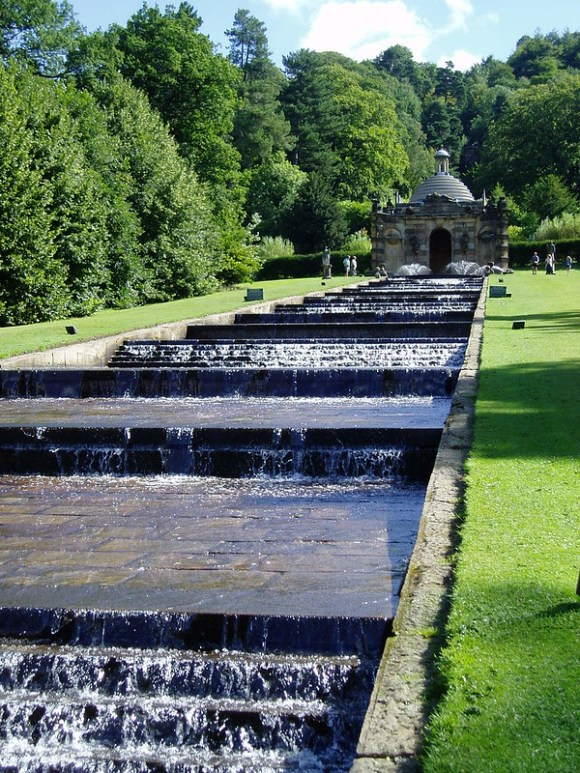 Derbyshire picnic spots - the Cascade fountain at Chatsworth House