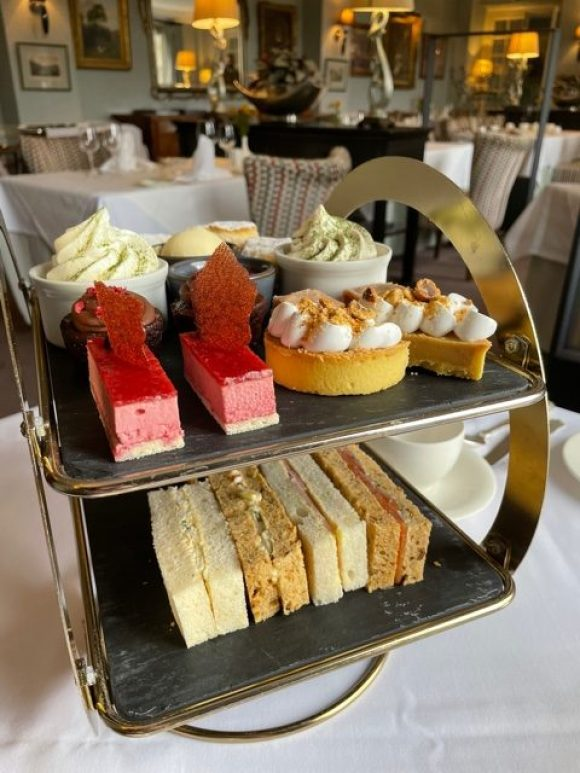 afternoon tea in Derbyshire at the Cavendish Hotel Baslow