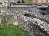 Remains of Winchester Castle, outside the Great Hall.