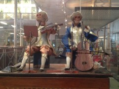 Luxury toy, 1870-1880. When the handle is turned the monkey musicians perform.