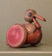 Wooden duck on wheels, 1912.