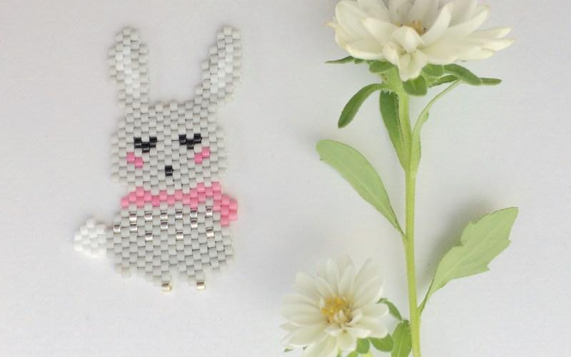lapine en perles miyuki