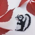 Diagrammes perles – La moufette Fleur en perles miyuki