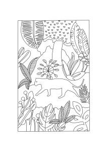 Coloriage panthère noire lovelyoupi