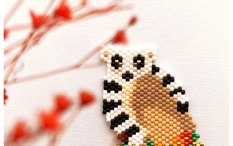 Le lémurien en perles Miyuki