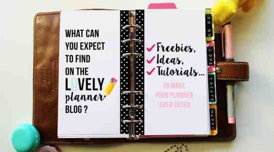 Find free planner inserts, free planner stickers and tutorials