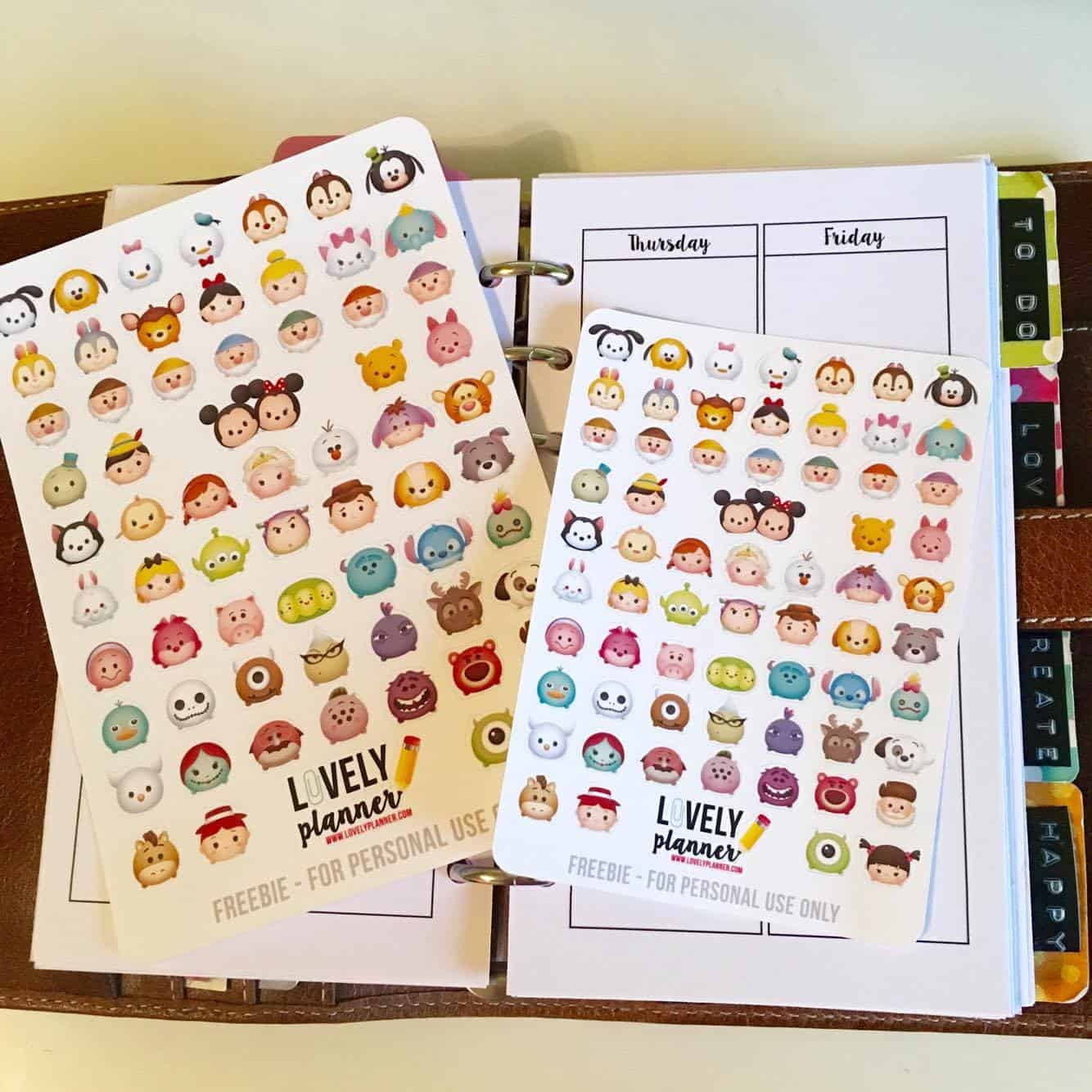 Freebie Tsum Tsum Planner Stickers