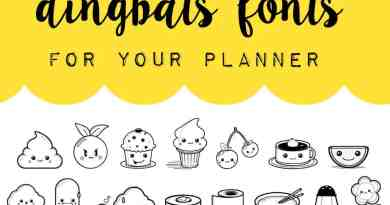 Free dingbats fonts to create kawaii stickers for your planner