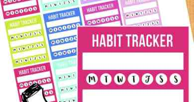 {Freebie} Habit tracker stickers for your planner