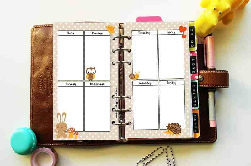 {Freebie} Autumn printable planner inserts