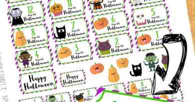 Free printable : Halloween countdown stickers for your planner