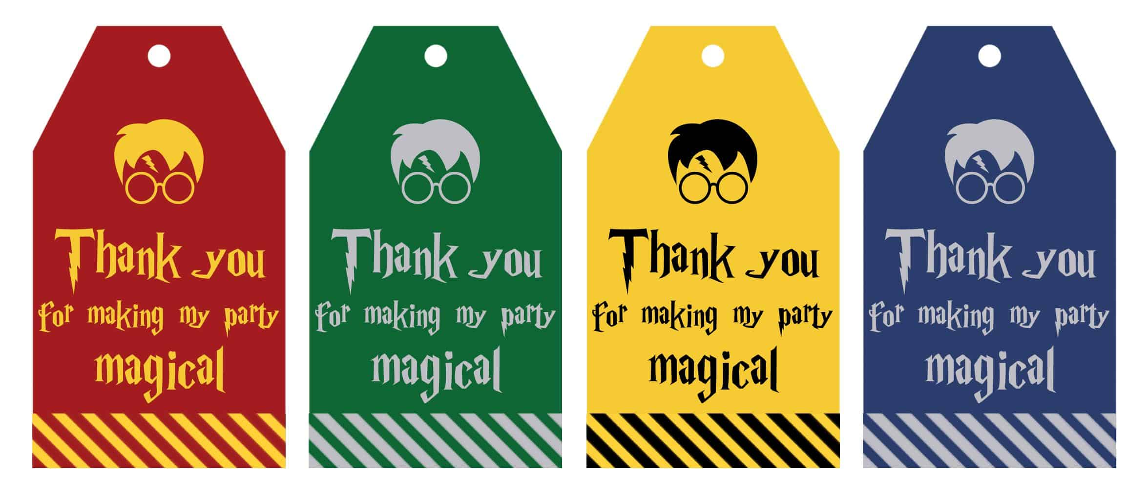Free Printable Harry Potter Part Favor T Tags