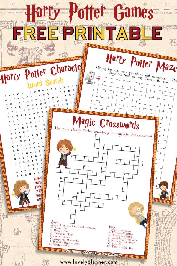 Free Printable Harry Potter Characters Word Search Puzzle ...