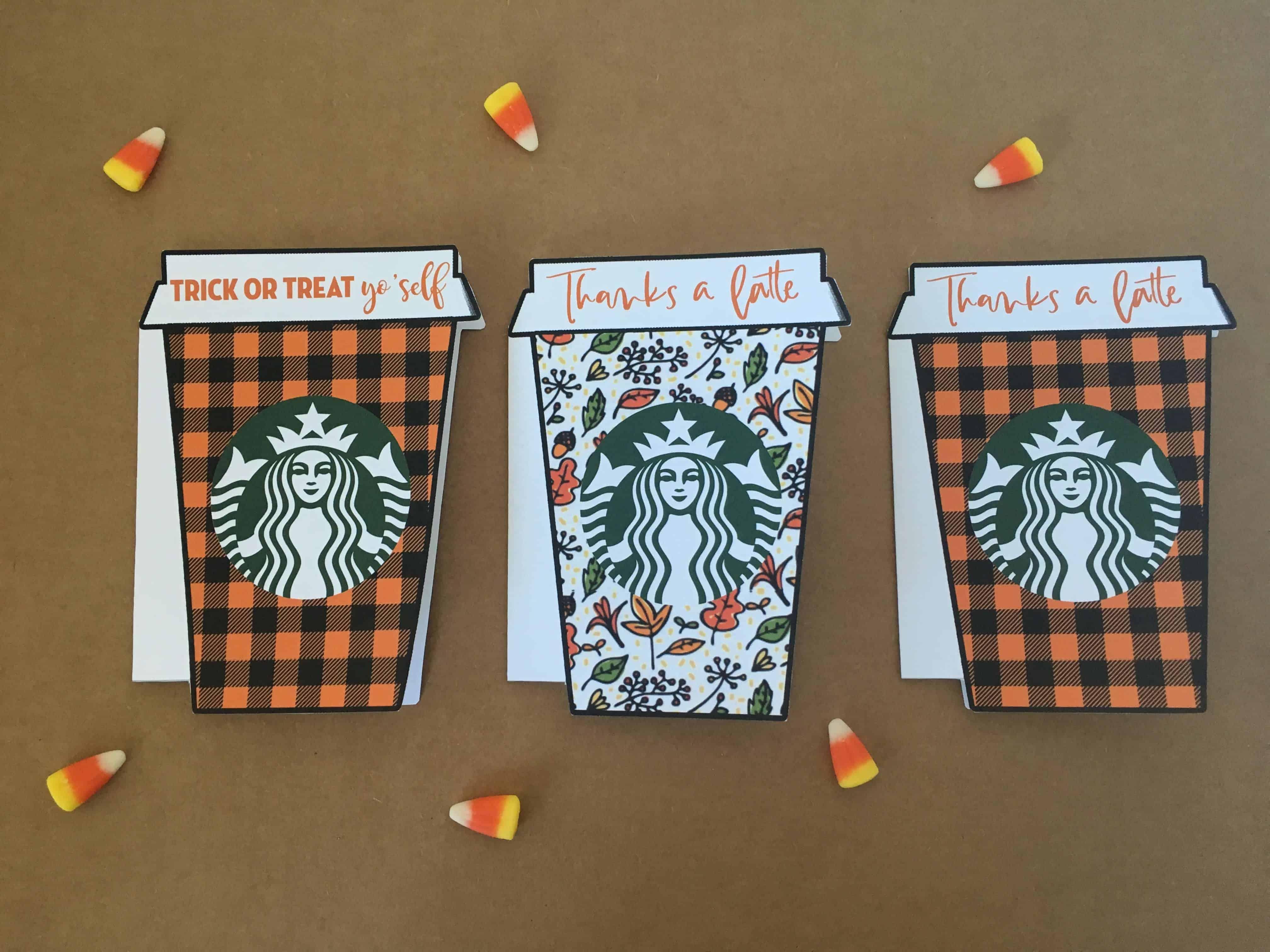 Fall Trick Or Treat Yo Self Starbucks T Card Holder