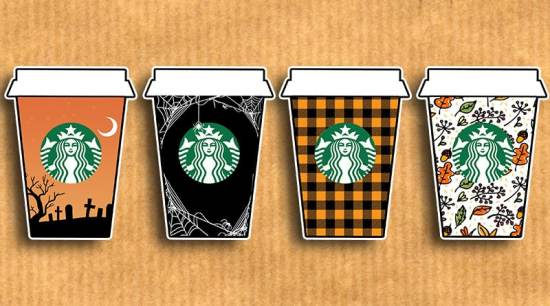Free Printable Fall Starbucks Cups Planner Stickers: decorate your planner or bullet journal with cute Starbucks cups decorated with fall colors and patterns. 62 stickers included in different sizes to fit all your needs! #fall #halloween #stickers #planner #freeprintable #starbucks #coffee #lovelyplanner