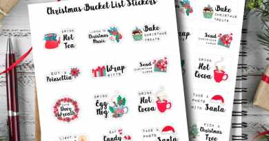 Free Printable Christmas Bucket List Planner Stickers