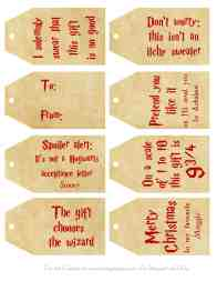 free printable harry potter gift tags for christmas