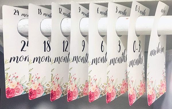 Free Printable Baby Girl Closet Dividers - Nursery decor
