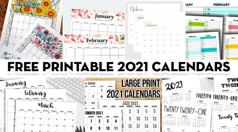You can budget both your money and your time by making a. 20 Free Printable 2021 Calendars Lovely Planner