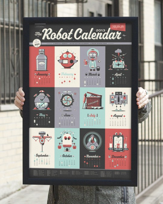 2013 Robot Calendar