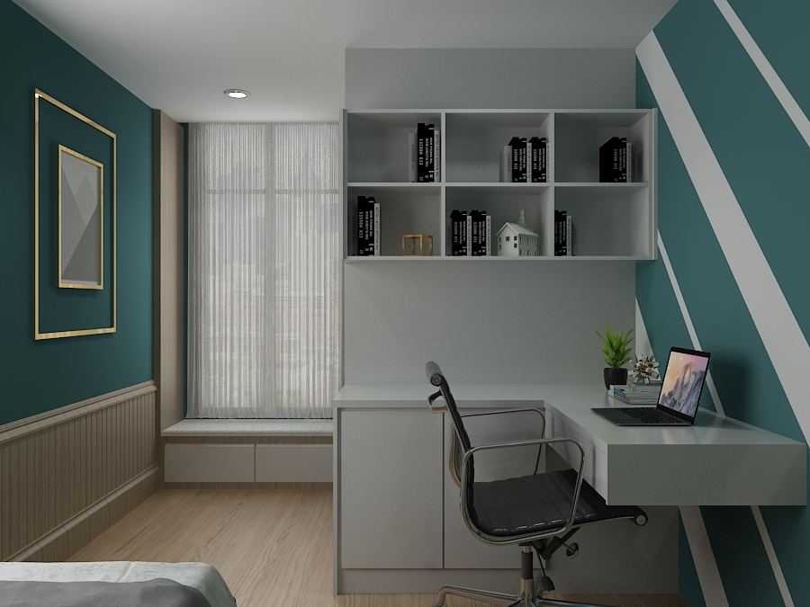 Wainscoting Home Office design