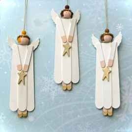 0050 Rustic DIY Wooden Christmas Ornaments Ideas