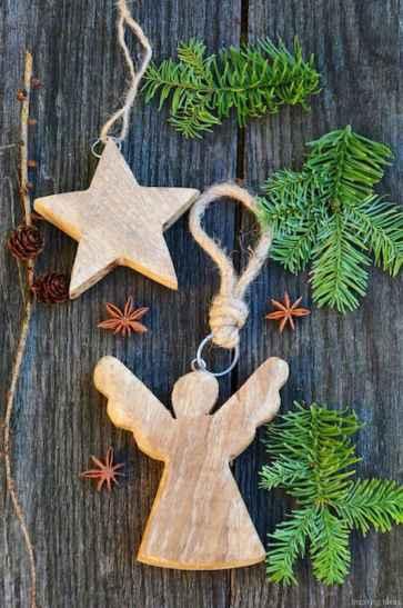 0051 Rustic DIY Wooden Christmas Ornaments Ideas