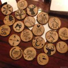 0052 Rustic DIY Wooden Christmas Ornaments Ideas