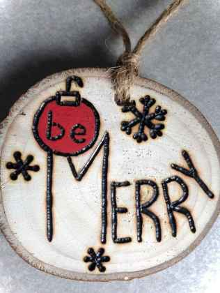 0063 Rustic DIY Wooden Christmas Ornaments Ideas