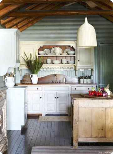 46 Small Cabin Cottage Kitchen Ideas13