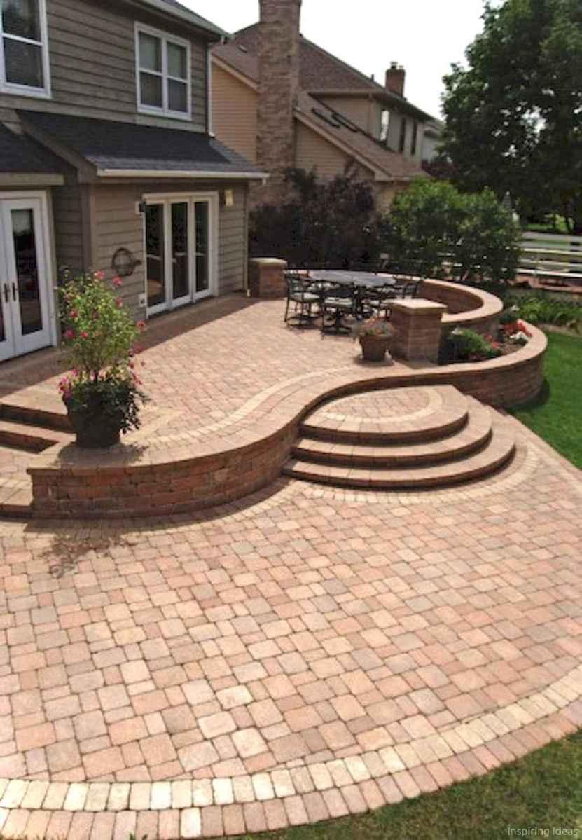 Paver Walkways Ideas for Backyard Patio 60