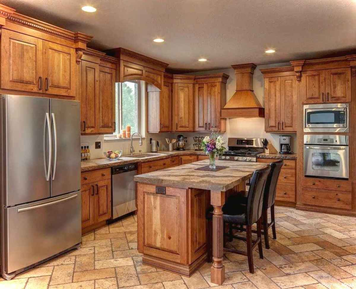 Rustic Cottage Kitchen Cabinets Ideas08 Lovelyving