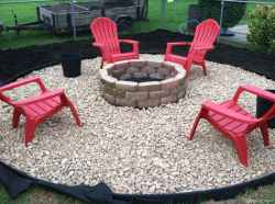 110 Fabulous Gravel Patio Ideas with Fire Pits 03