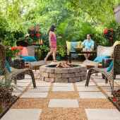 110 Fabulous Gravel Patio Ideas with Fire Pits 06